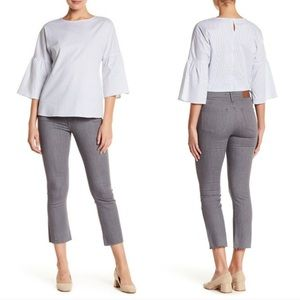 Madewell Cali Demi-Boot Raw Hem Grey Jeans